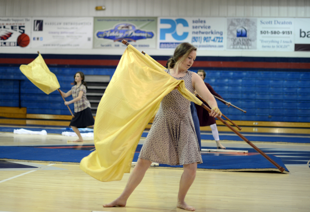 Baptist Prep Upper School Hosts Winter Guard Exhibition